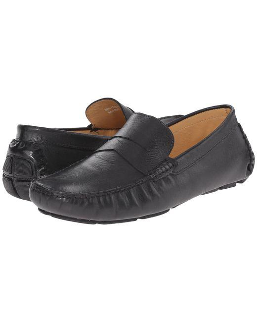 Massimo Matteo - Saffiano Penny Moc (black) Men's Lace Up Moc Toe Shoes for Men - Lyst