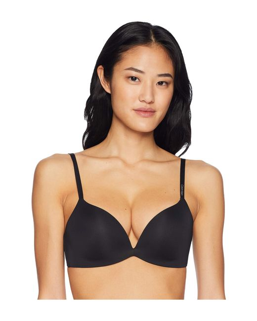 f64b4e682ff Calvin Klein - Black Form Push-up Plunge Bra - Lyst ...