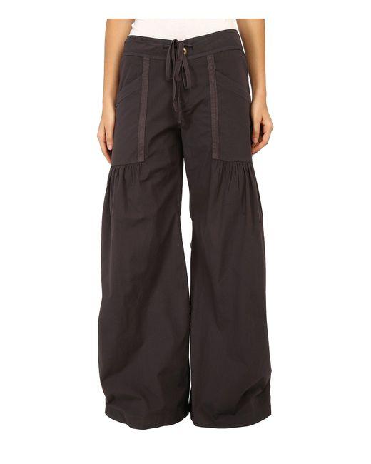 XCVI - Gray Willow Wide Leg Stretch Poplin Pants (charcoal) Women's Casual Pants - Lyst