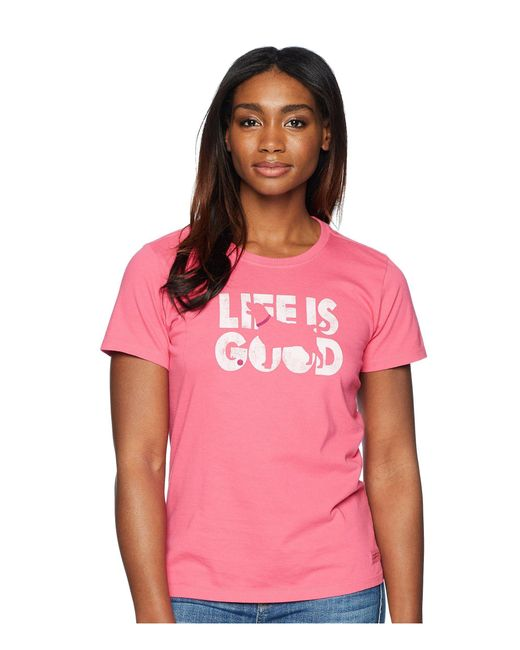 Life Is Good. - Pink Knockout Dog Crusher Tee - Lyst