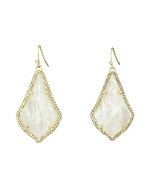 Kendra Scott - Metallic Alex Earring (gold Slate Cat's Eye) Earring - Lyst
