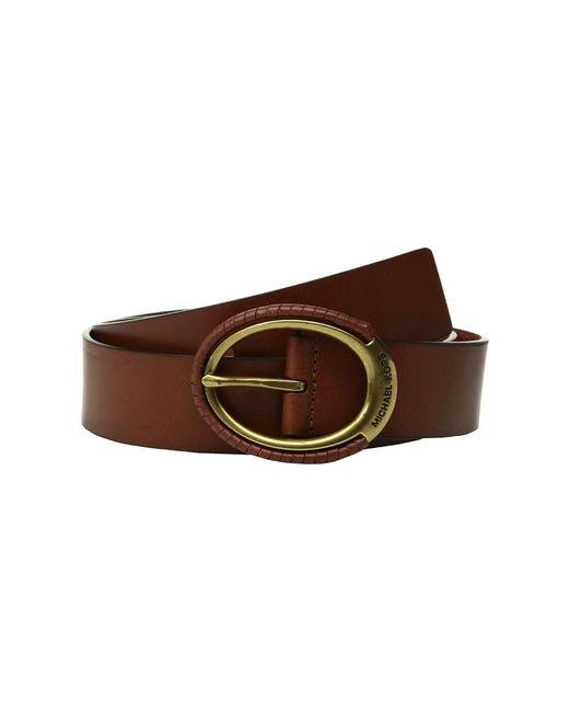 MICHAEL Michael Kors - Brown 38mm Belt W/ Wrapped Buckle (mink) Women's Belts - Lyst