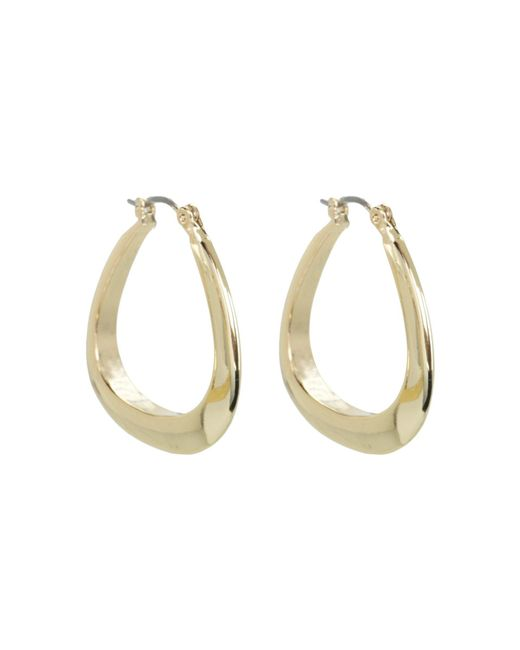 Guess | Metallic Logo Triangular Hoops | Lyst