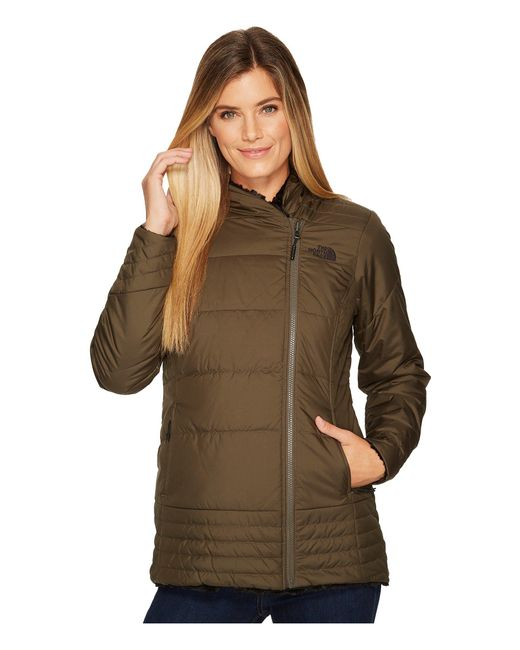 The North Face - Green Mossbud Swirl Parka (tnf White) Women's Coat - Lyst