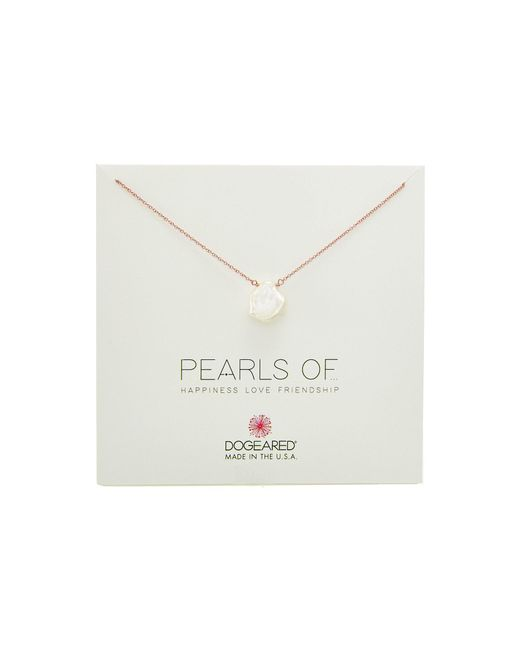 Dogeared   Metallic Pearls Of...large Keshi Pearl Necklace   Lyst