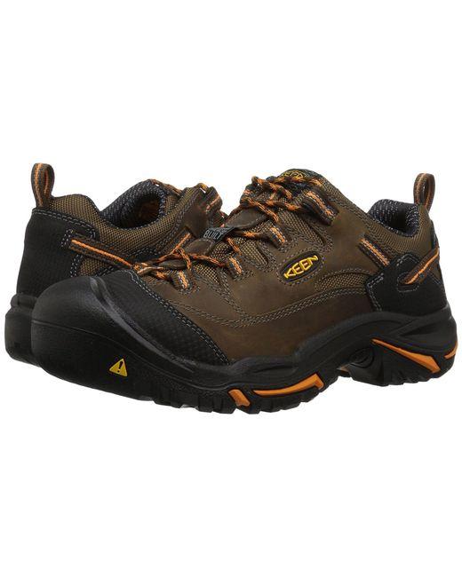 Keen Utility - Braddock Low Soft Toe (cascade Brown/orange Ochre) Men's Industrial Shoes for Men - Lyst