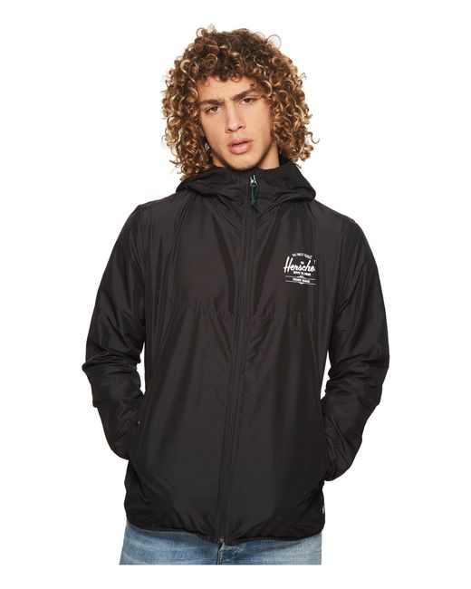 0e7bd51879d ... Herschel Supply Co. - Wind (black white Classic Logo) Men s Coat for ...