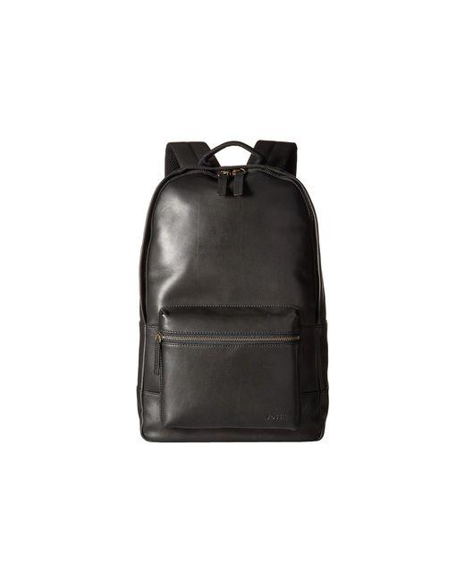 Fossil | Black Estate Leather Backpack for Men | Lyst