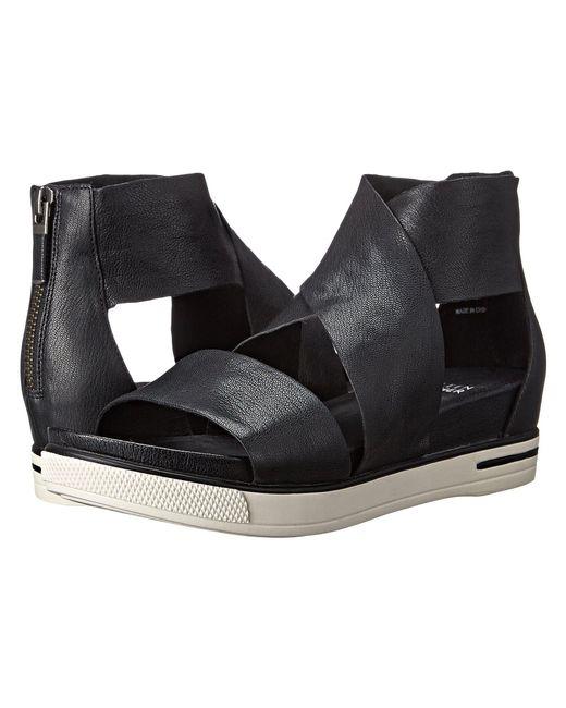 Eileen Fisher - Black Sport Wide-strap Leather Sandal - Lyst
