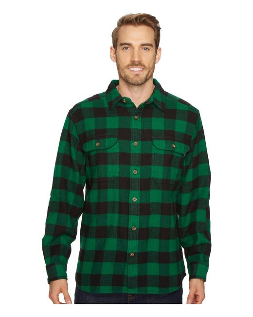 Woolrich - Green Oxbow Bend Flannel Shirt for Men - Lyst