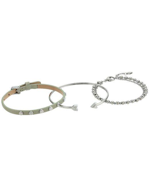Fossil | Metallic Fashion Bracelet Gift Set Of 3 | Lyst
