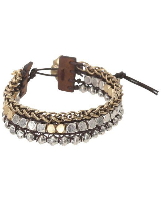 Lucky Brand - Metallic Royal Jewels Mixed Two-tone Faux Wrap Bracelet (two-tone) Bracelet - Lyst