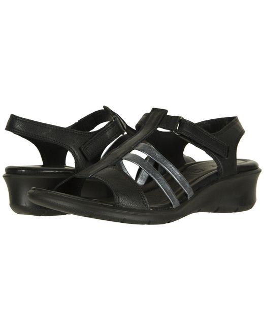Ecco - Black Felicia Ankle Sandal (moon/dark Shadow Cow Leather) Women's Sandals - Lyst
