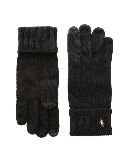 Polo Ralph Lauren   Black Signature Merino Touch Gloves for Men   Lyst