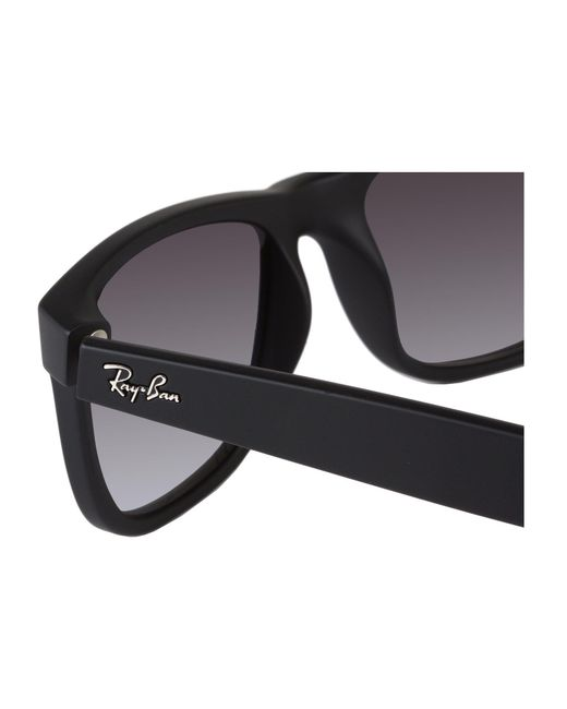 104afeeb11 ... Ray-Ban - Black Rb4165 Justin Classic 51mm (transparent Blue blue  Gradient Green ...
