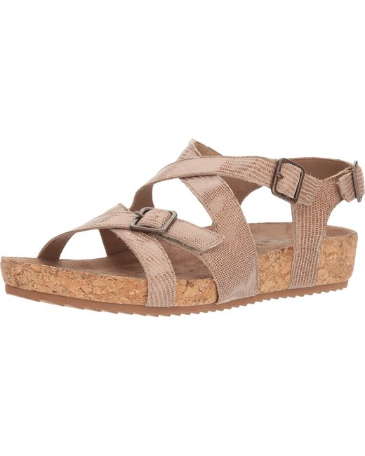 Hot Sale Cheap Online Walking Cradles Pacific Strappy Cork Sandal(Women's) -Light Taupe Patent Lizard Print Leather Clearance Low Cost Popular And Cheap 4a5Snz