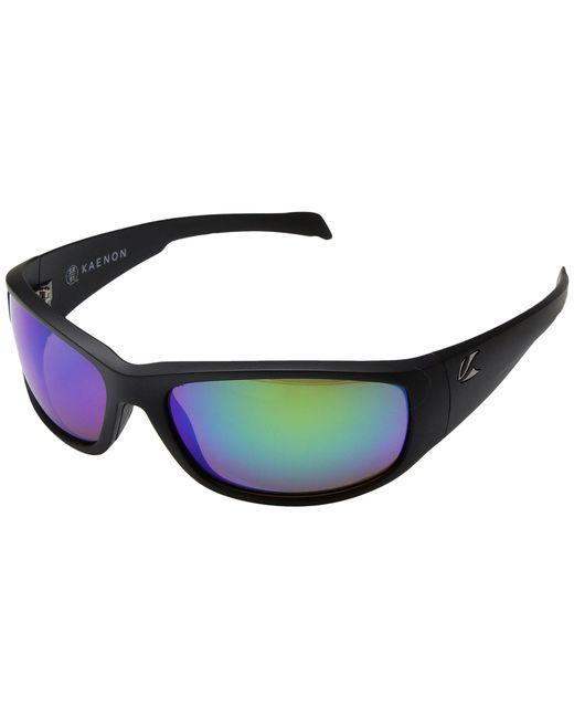 Kaenon - Capitola (matte Black/coastal Green Mirror) Sport Sunglasses for Men - Lyst