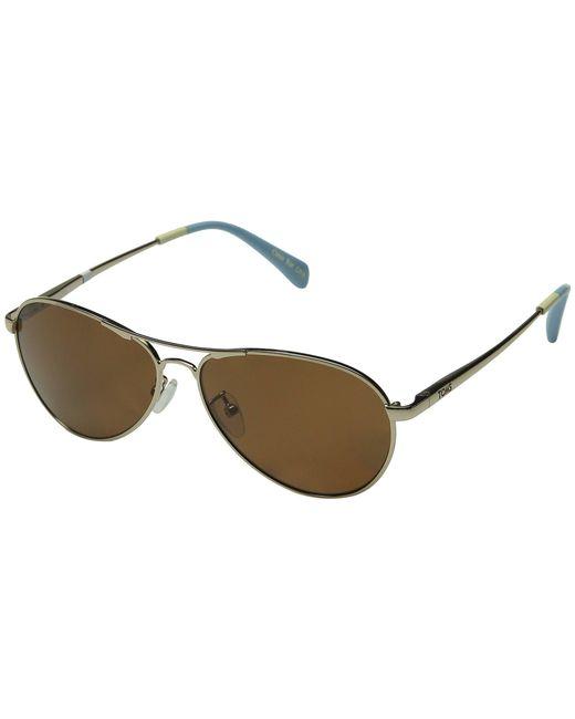 TOMS - Metallic Kilgore Polarized (silver) Fashion Sunglasses - Lyst