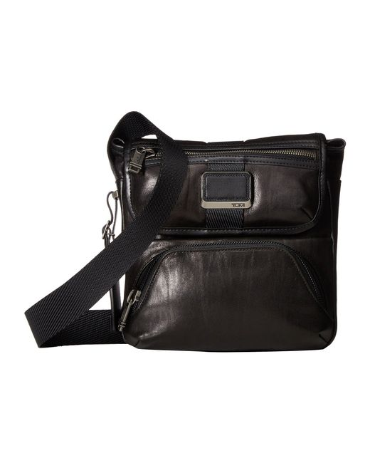 Tumi - Alpha Bravo Barton Leather Crossbody (black Leather) Cross Body  Handbags for Men ... b16a3e59dc866