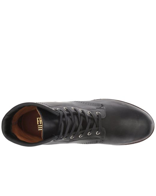 eb34fc24171 Lyst - Frye Addison Lug Lace-up (black Smooth Pull Up) Men s Lace-up ...