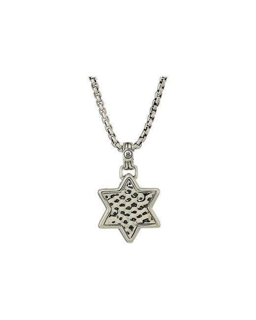 John Hardy - Metallic Classic Chain Star Of David Hammered Pendant Necklace (silver) Necklace for Men - Lyst