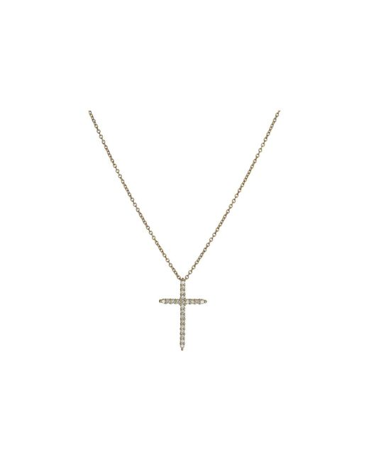 Roberto Coin - White Tiny Treasures Cross Pendant With Diamands - Lyst