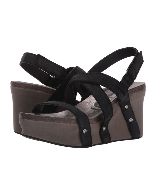 Otbt - Sail (black Suede) Women's Wedge Shoes - Lyst