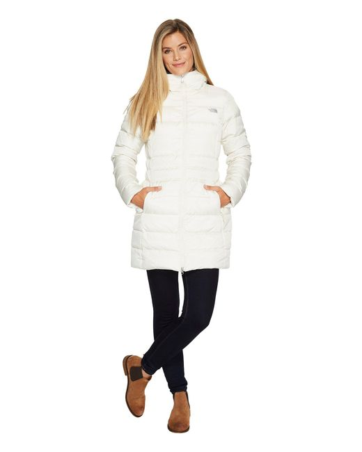 The North Face - White Gotham Parka Ii (new Taupe Green) Women's Coat - Lyst