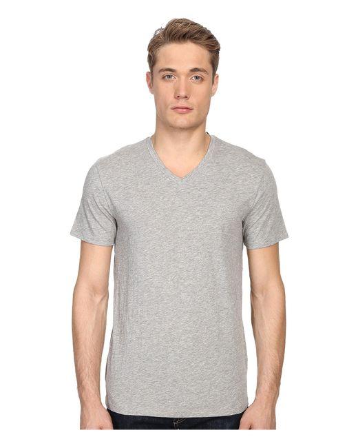 Vince - Multicolor Short Sleeve Pima Cotton V-neck Shirt for Men - Lyst