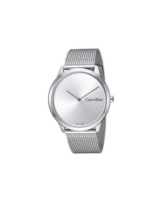 Calvin Klein - Metallic Minimal Watch - K3m211y6 (silver) Watches for Men - Lyst