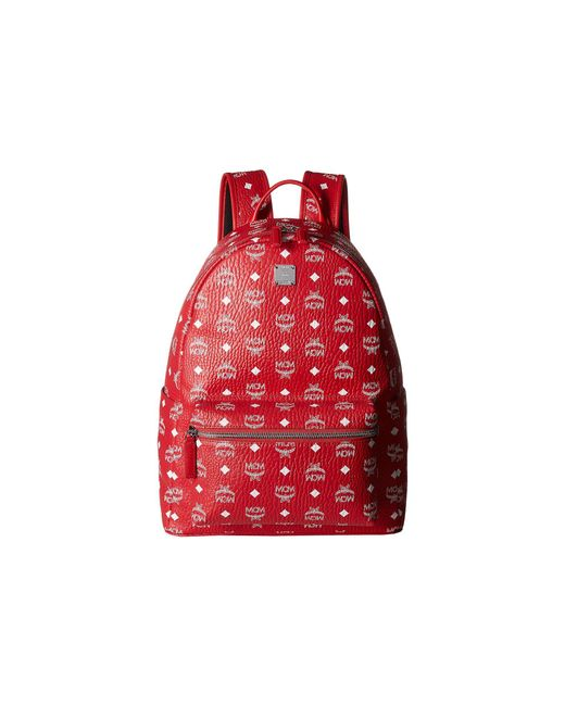 MCM - Stark No Stud Medium Backpack (red/white) Backpack Bags for Men - Lyst