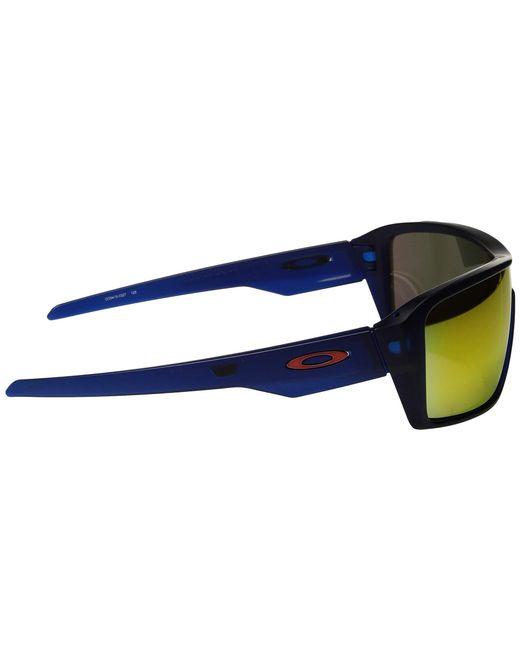 ed99f7d95c4d4 ... Oakley - Blue Ridgeline (polished White prizm Black) Sport Sunglasses  for Men ...