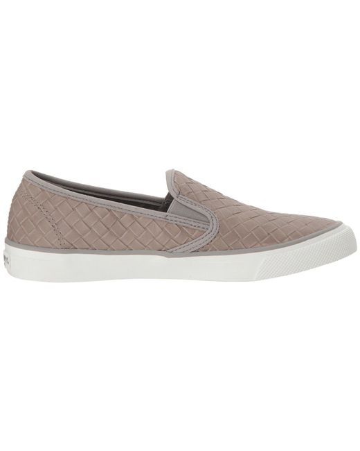 f84ccf42a0961 Sperry Top-Sider Seaside Emboss Weave Sneaker in Gray - Save 61% - Lyst
