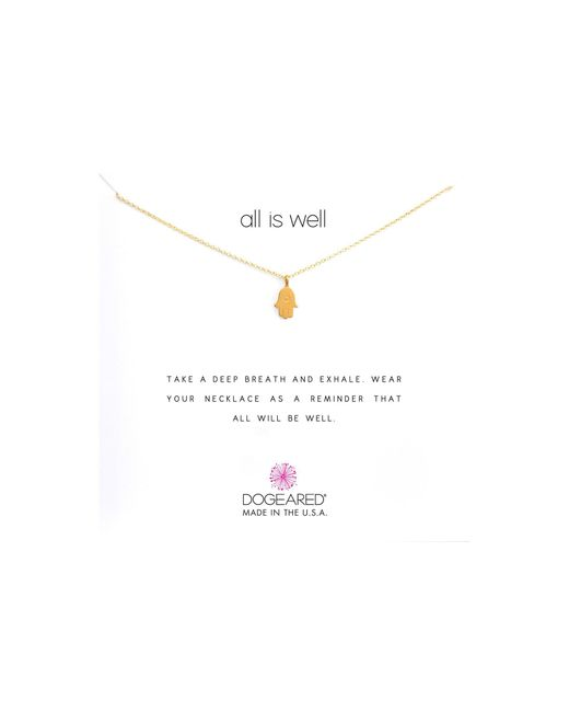 Dogeared - Metallic All Is Well Hamsa Reminder Necklace - Lyst