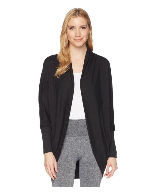 Jockey Active - Black Cocoon Wrap (light Charcoal) Women's Sweater - Lyst