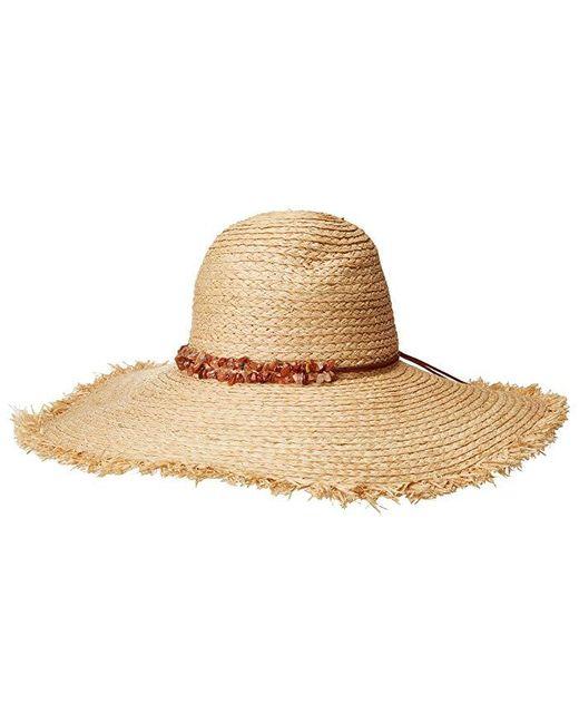 San Diego Hat Company - Natural Rhl3090os Raffia Braid W/ Double Stone Trim Sun Brim - Lyst