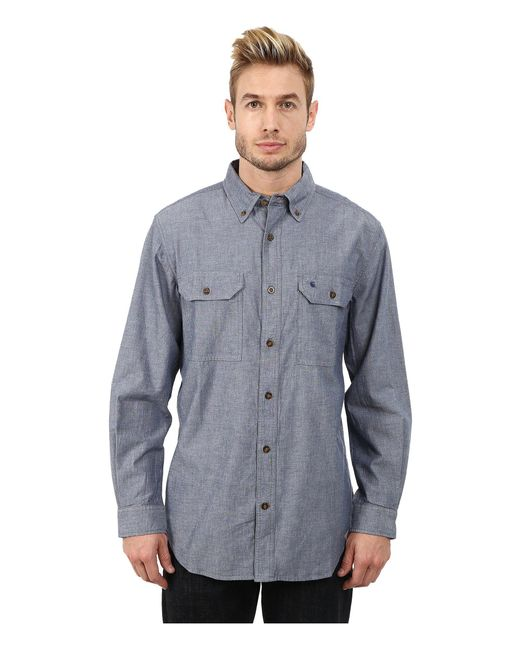Carhartt | Blue Fort Solid L/s Shirt for Men | Lyst