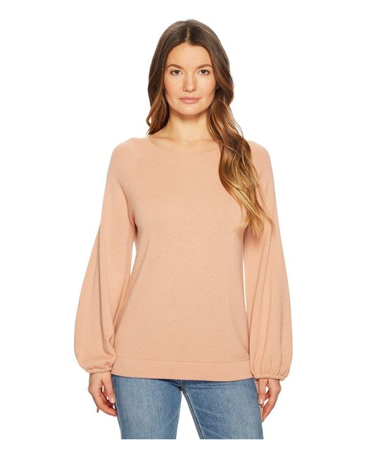 Vince - Natural Scrunch Sleeve Top - Lyst