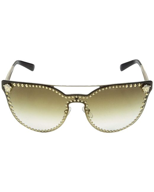 f3a5f774fd ... Versace - Black Ve2177 (pale Gold gold Mirror) Fashion Sunglasses -  Lyst ...