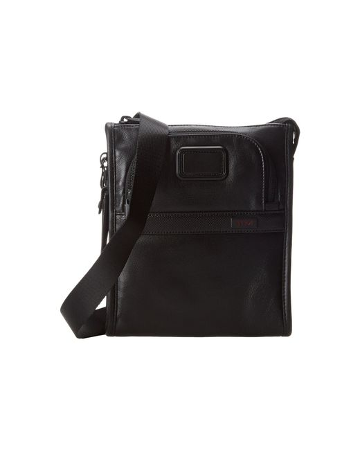 Tumi | Black Alpha 2 - Leather Pocket Bag Small for Men | Lyst