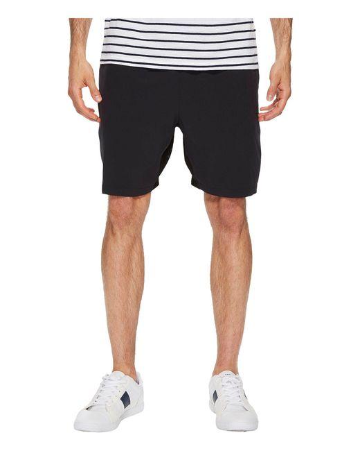 Lacoste - Black Stretch Taffeta Shorts (white) Men's Shorts for Men - Lyst
