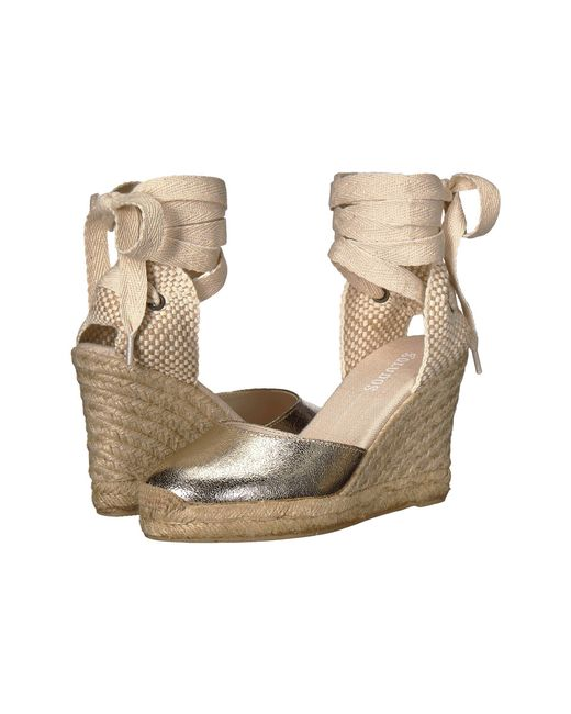 Soludos - Metallic Tall Wedge - Lyst
