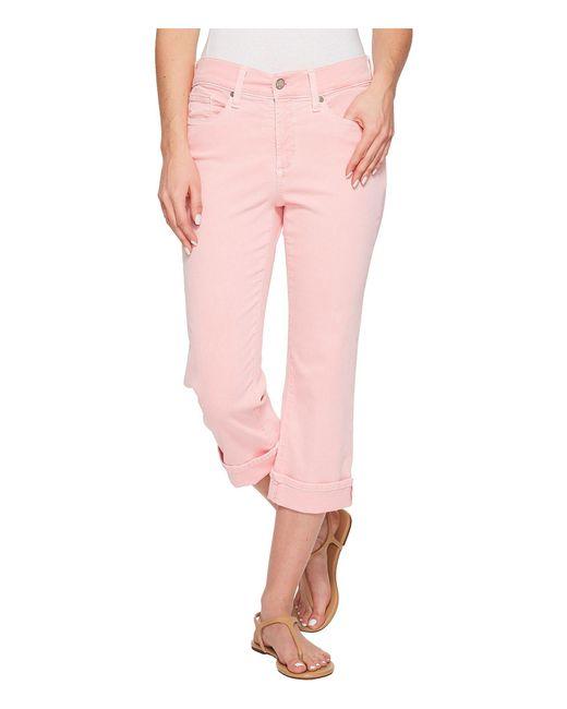 NYDJ - Pink Marilyn Crop Cuff In Primrose - Lyst