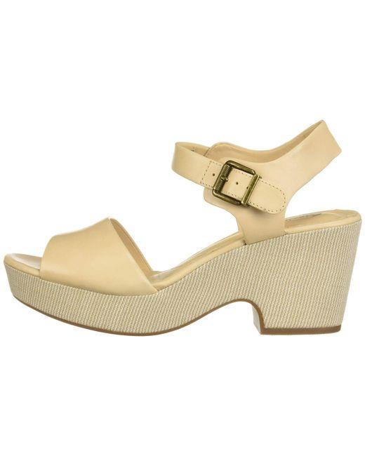 65dd57e1ae25 ... Clarks - Natural Maritsa Janna (black Leather) High Heels - Lyst ...