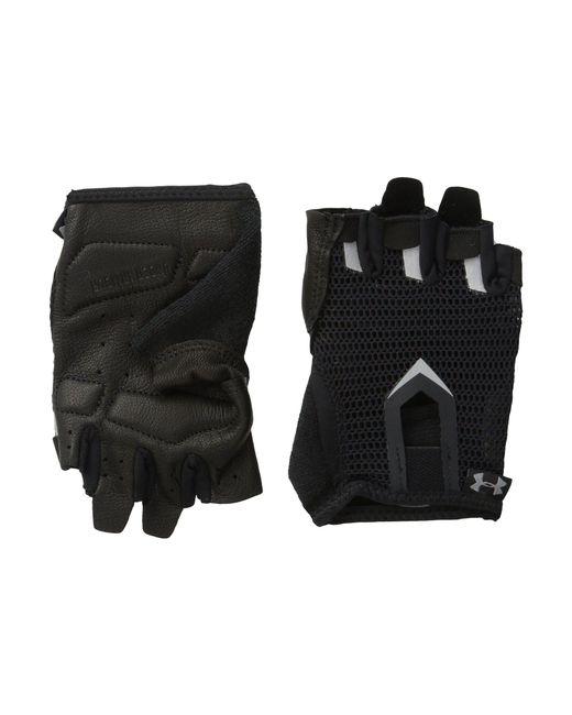 Under Armour | Black Men's Ua Flux Half-finger Training Gloves for Men | Lyst