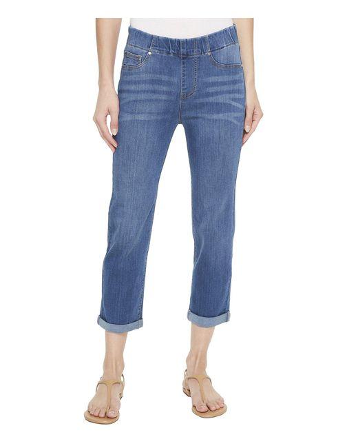 Liverpool Jeans Company - Blue Chloe Rolled Cuff Pull-on Capris In Silky Soft Denim In Coronado Mid (coronado Mid) Women's Jeans - Lyst