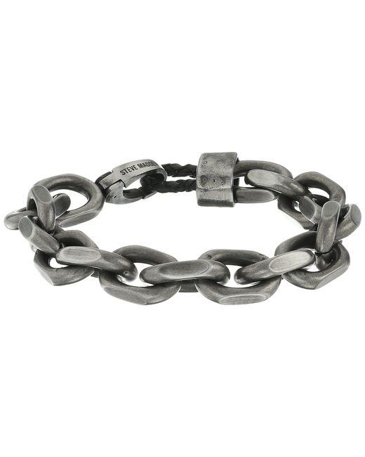 """Steve Madden - Metallic Stainless Steel 8"""" Facet Rolo Chain Bracelet - Lyst"""