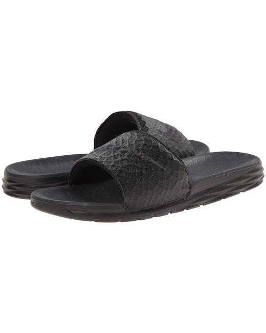 9ba8fa7359fa Nike - Benassi Solarsoft Slide 2 (dark Grey black) Men s Slide Shoes for ...