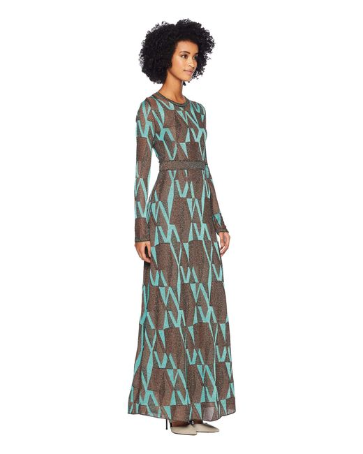 f26372454389 Lyst - M Missoni Geo Lurex Maxi Dress (turquoise) Women s Dress in Blue