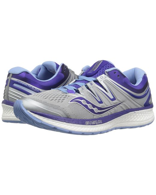 Saucony - Blue Hurricane Iso 4 (grey/black/vizi Red) Women's Running Shoes - Lyst